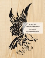 Eagle Scrollsaw Woodworking Pattern - fee plans from WoodworkersWorkshop® Online Store - eagles,birds of prey,wildlife,animals,yard art,painting wood crafts,scrollsawing patterns,drawings,plywood,plywoodworking plans,woodworkers projects,workshop blueprints