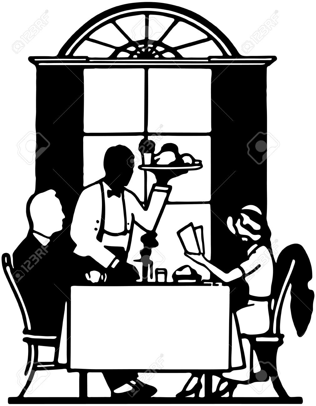 Fine Dining Clipart Image - Chef holding a serving tray of food he prepared  | Food clipart, Soup kitchen, Cream soup recipes