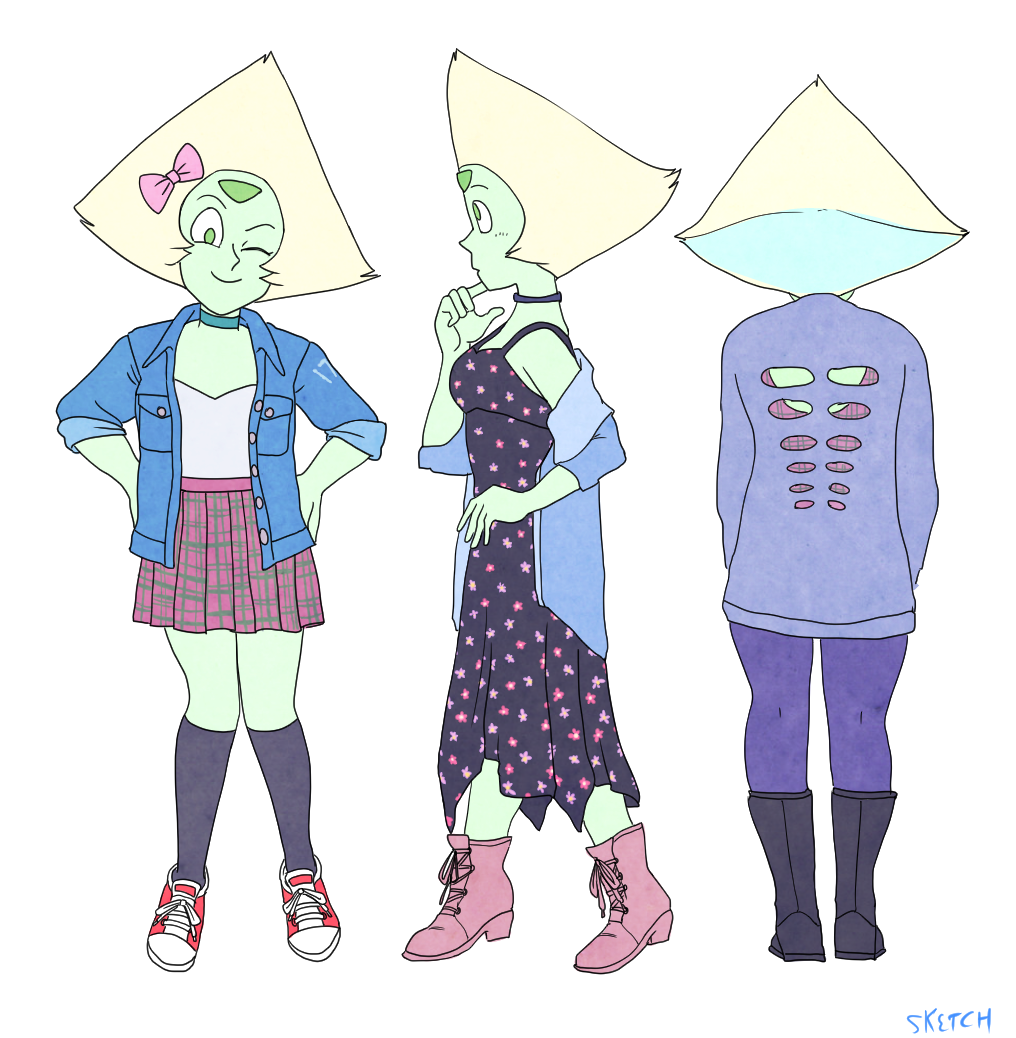 month of Peridot - day 17 90′s fashions