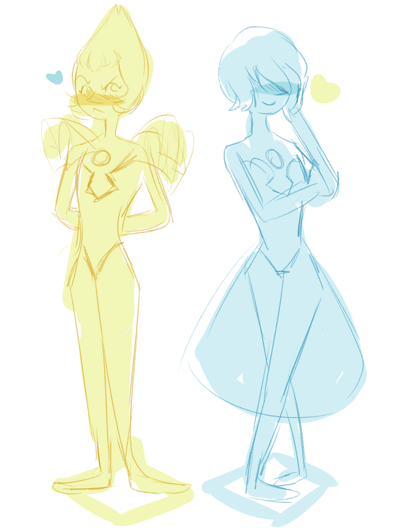 I need to draw more cute pearls blushing around each other with some MAD dokis
