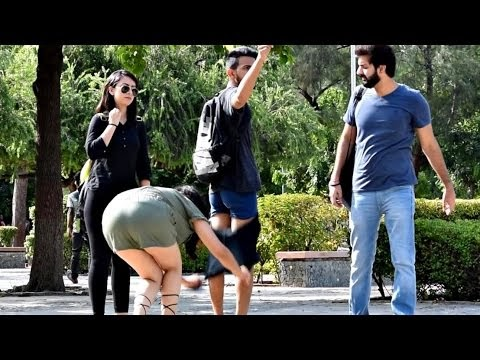 Hot Indian Girl Removing Pants in Public Prank | AVRprankTV (Pranks In I...