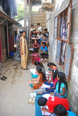 Drawing Contest In The Slums-Kaun Banega Artist for Rs 50.. by firoze shakir photographerno1