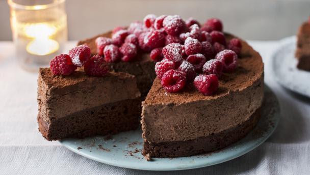 BBC Food - Recipes - Celebration chocolate mousse cake