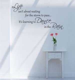 Vinyl Lettering Life Dance Rain 12 Quote Wall Art