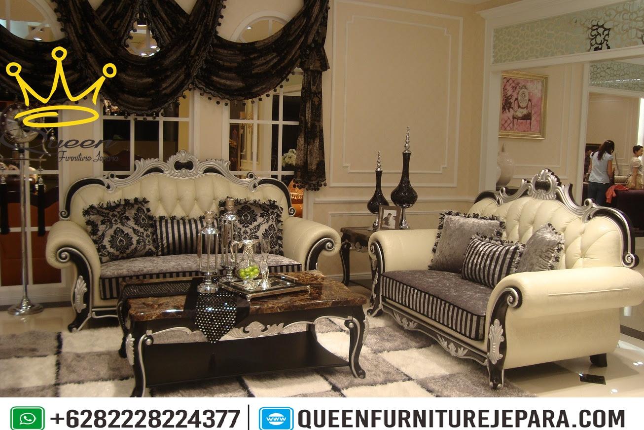 Model Klasik Kursi Sofa Tamu Ukiran Jepara Terbaru Queen Furniture
