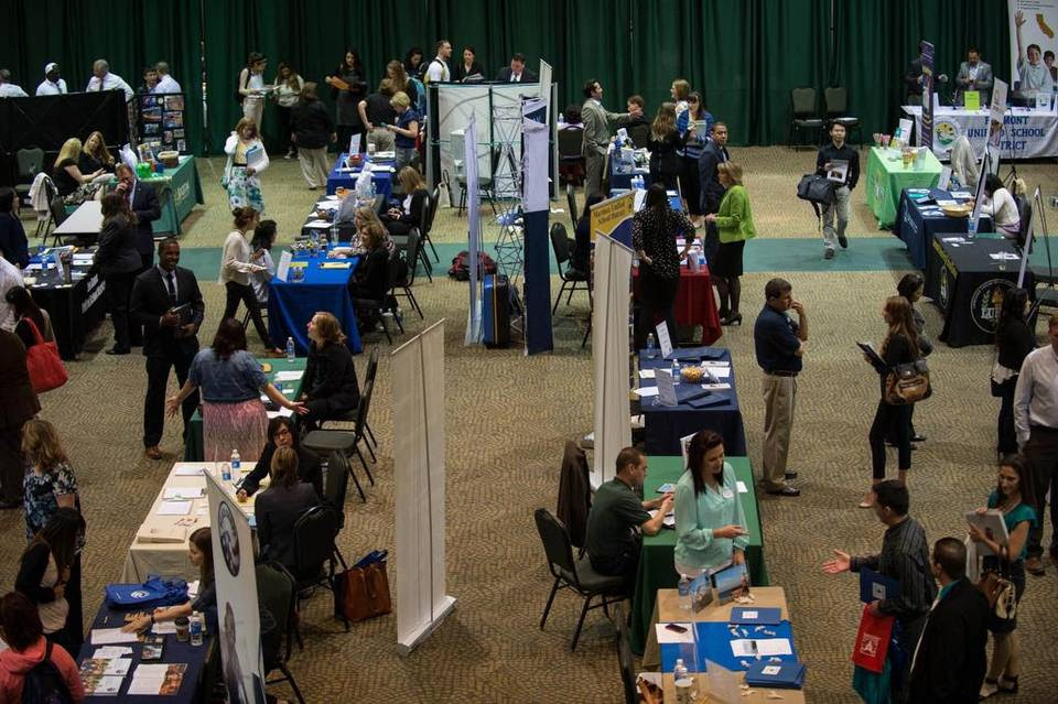 From on-the-spot interviews to hiring bonuses, the school districts from across California attending last week's teacher recruitment fair looked for an edge that would prove appealing to prospective candidates.