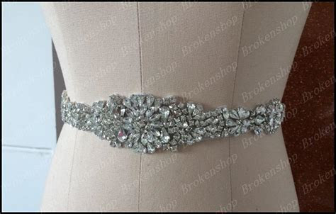 2019 New Elegant Motif Rhinestone Bridal Sashes Shiny
