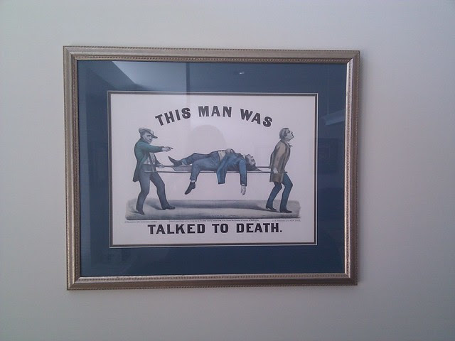 On the conference room wall