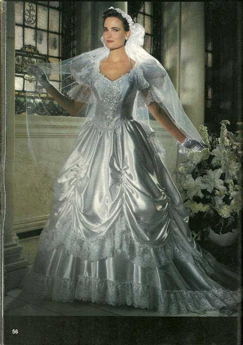 A pickup skirt on a 1980s bridal gown   Vintage Wedding