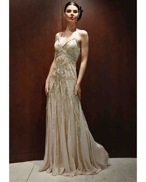 gold wedding dresses fall  bridal fashion week