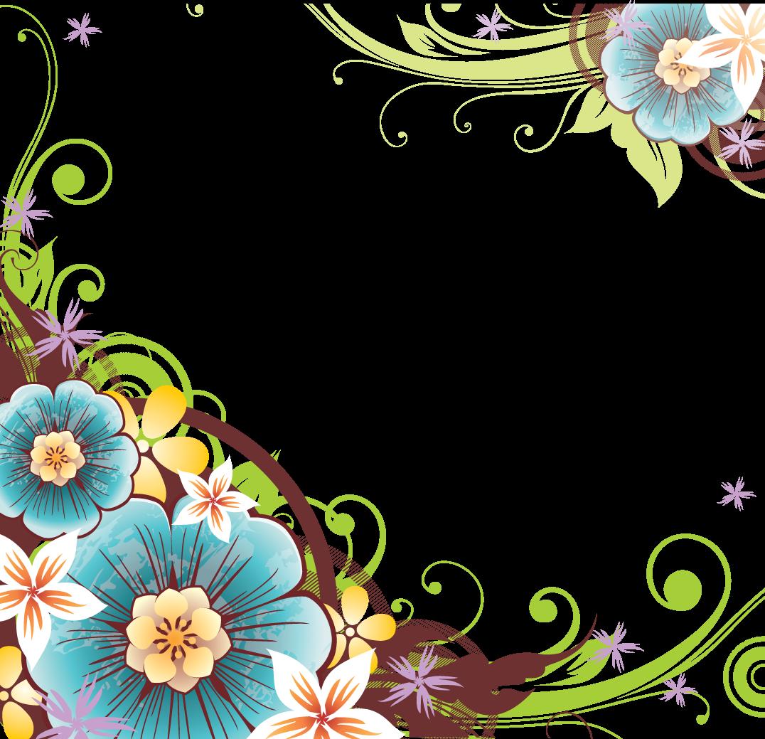 15 Floral Corner Vector Png Images - Elegant Flower Corner