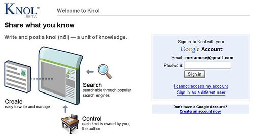 google knol-login