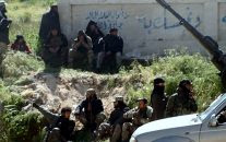 Fighters from Nusra Front,. Al-Qaida's branch in Syria, in the town of Jisr al-Shughour, Idlib province.