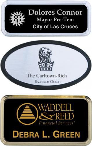 Laser Engraved Name Tags With Badge Frames Name Badges Name Tags