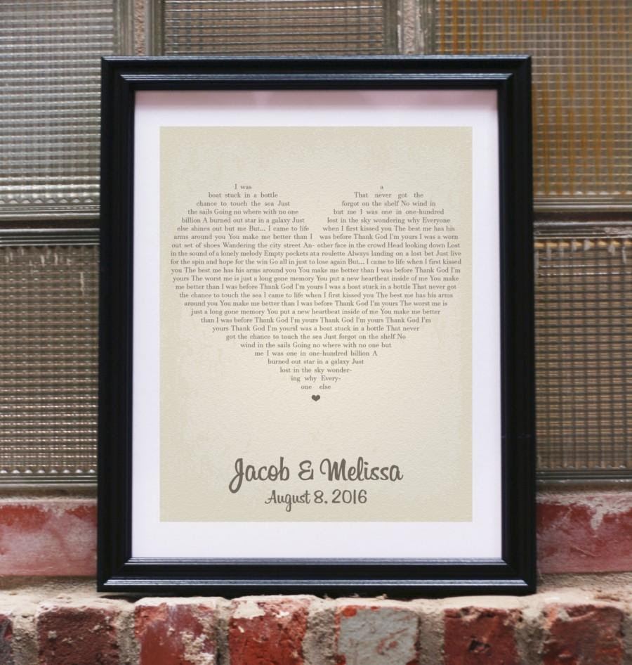 Wedding Gift Song Lyrics Personalized Wedding Gifts For Couple