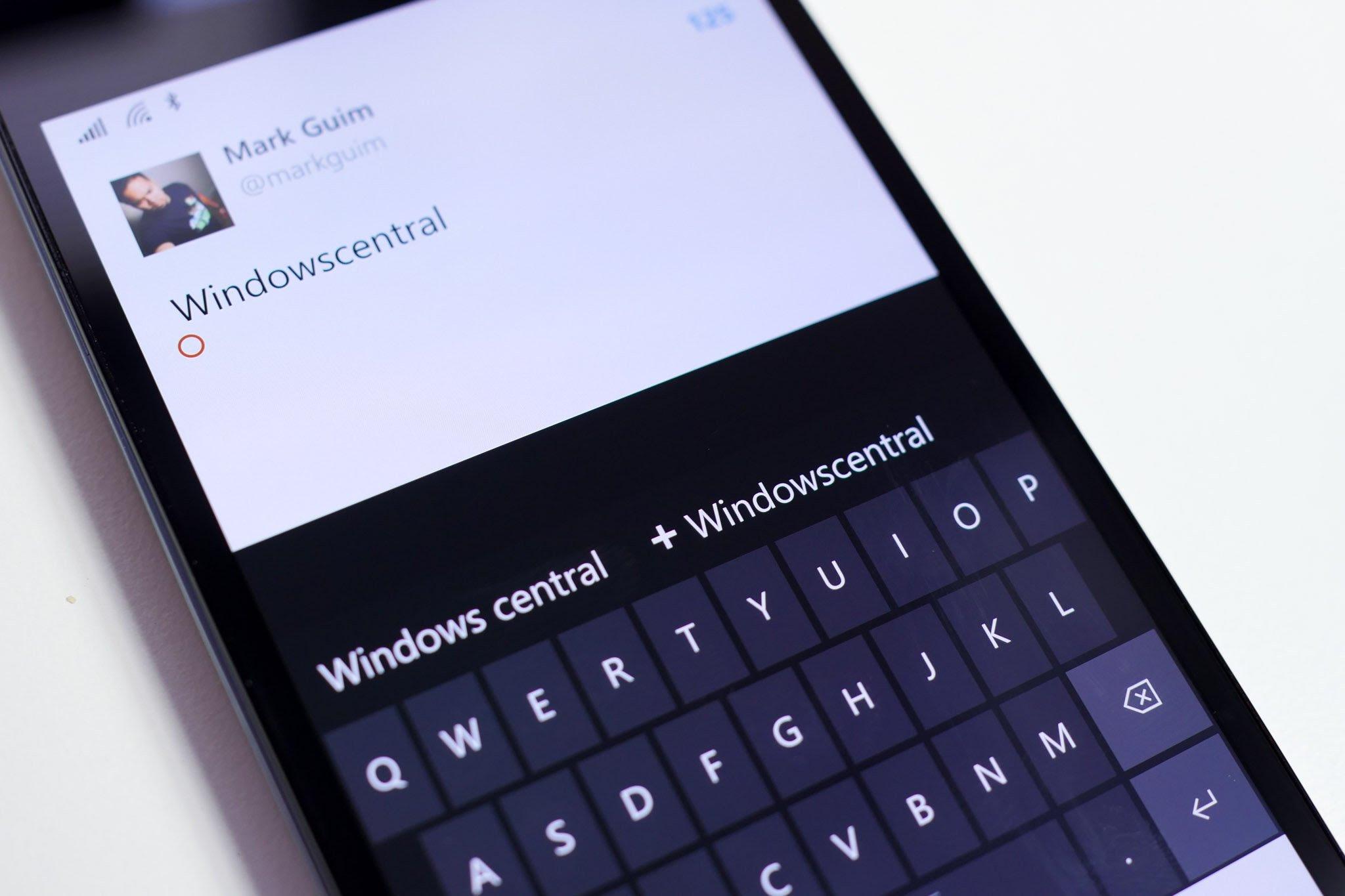 Lumia 950 keybaord
