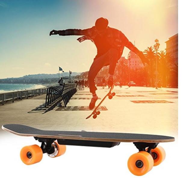 Leoneva Electric Longboard\/Eskateboard, 350W\/200W Motorized Longboard Max Range 10 Miles,Top