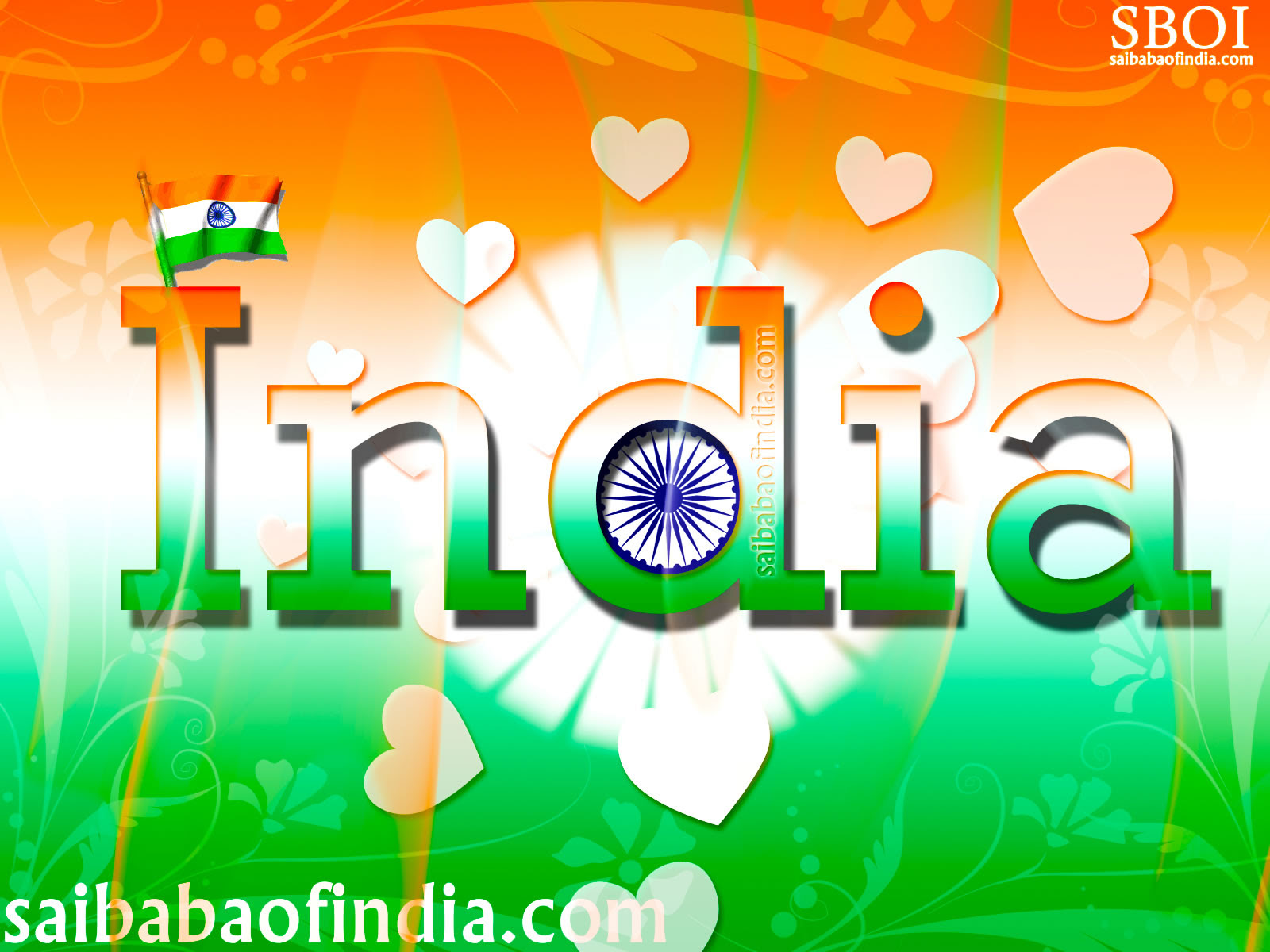 Independence Day Wallpapers Greeting Cards 15th August Sai Baba