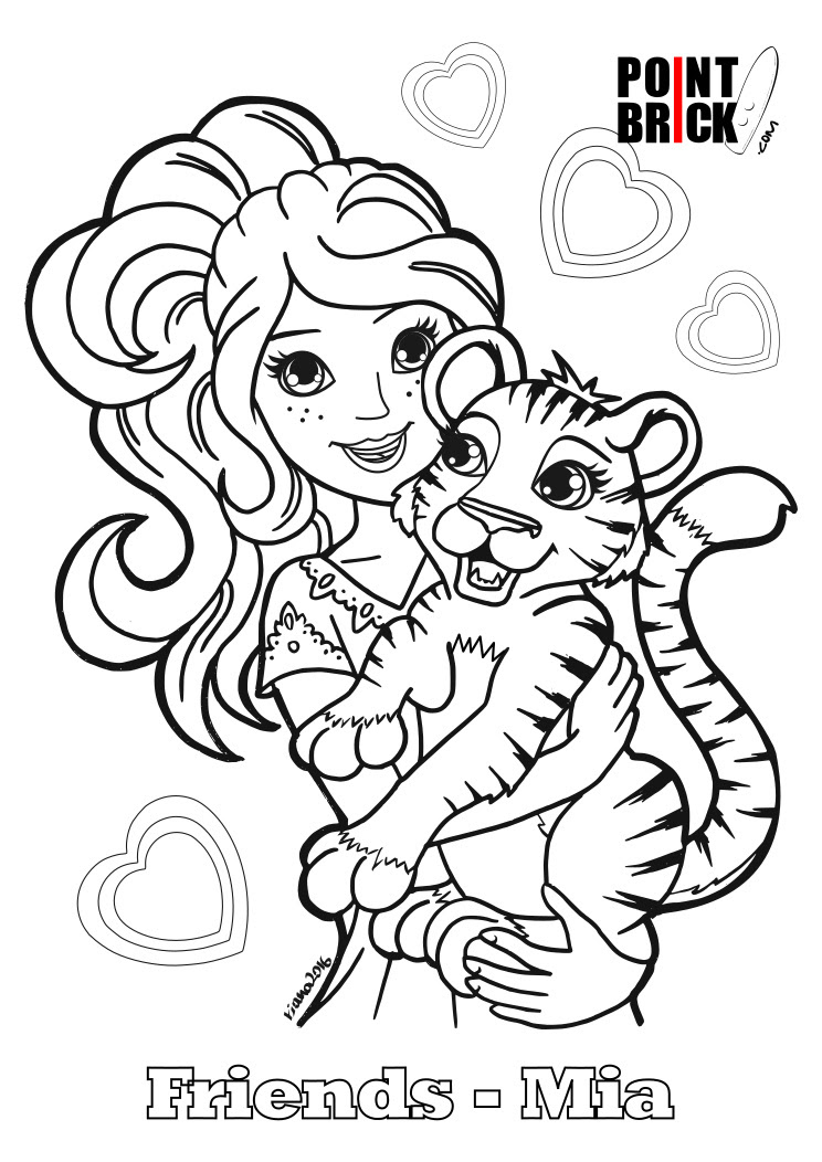 Lego Friends Drawing at GetDrawings | Free download