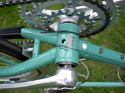My name painted on Atlantis bottom bracket
