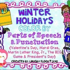 Winter Holidays Color By Parts of Speech and Punctuation