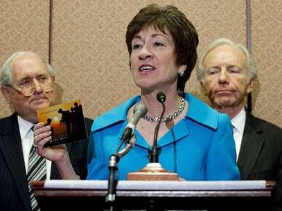 La congresista republicanaSusan Collinsde Mainecomenzó un plan para abrir las discusiones entre ambos partidos en el Senado, al que se unieron rápidamente algunas legisladoras demócratas. Foto: Getty Images