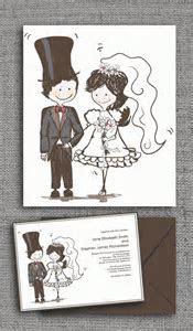 Caricature Style Wedding Invitation ? Wedding Invitation
