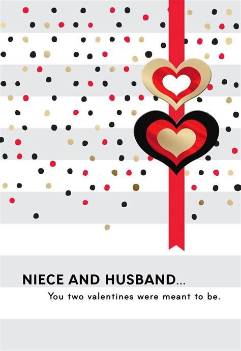 For Niece and Husband Valentine's Day Card   Greeting