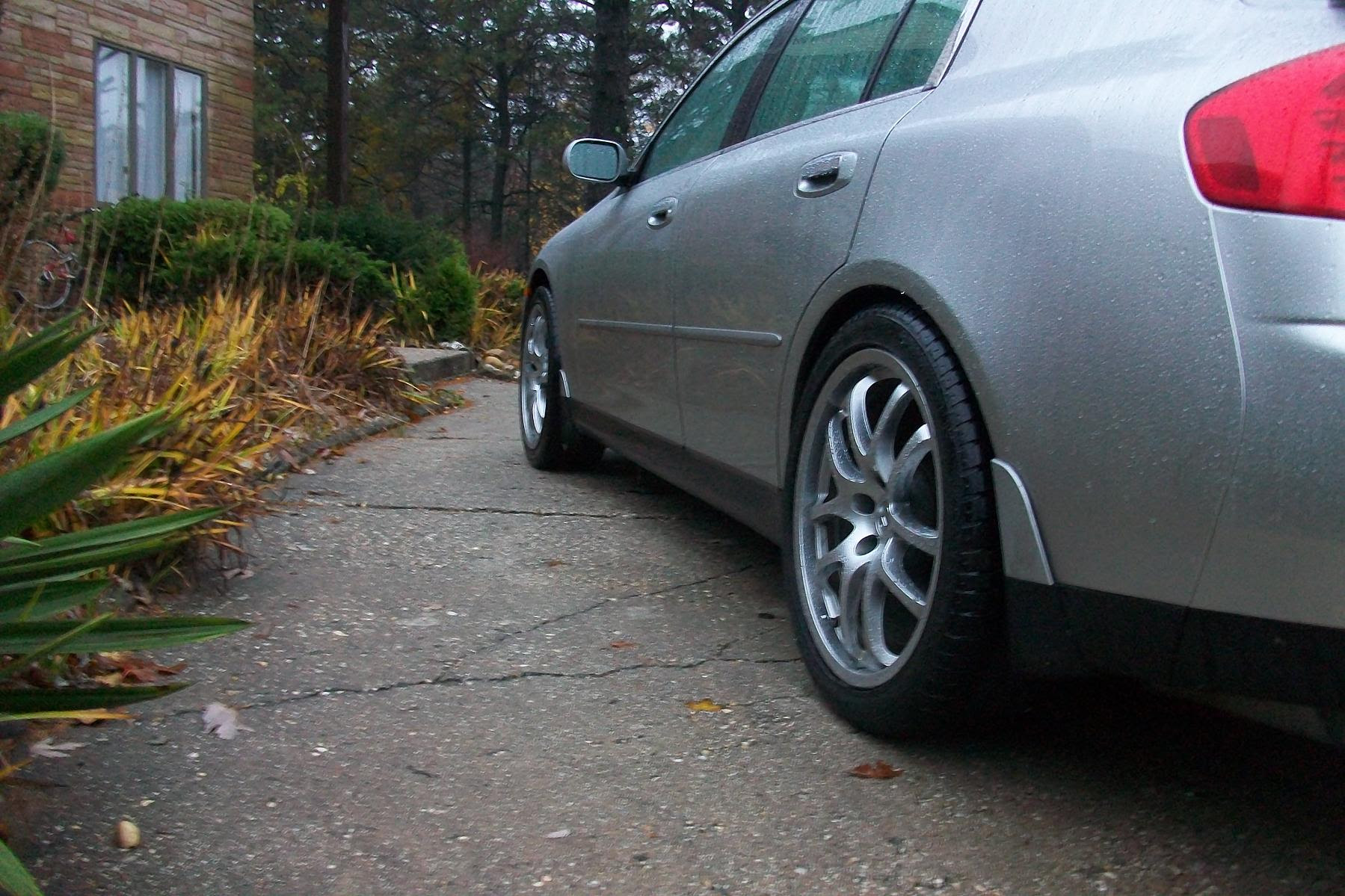 Is There Anyway To Fix Wheel Offset Just Put Coupe Wheels On My Sedan G35driver Infiniti