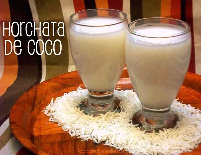 Horchata de Coco - lacocinadeleslie.com