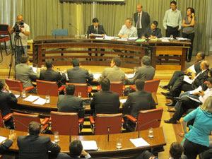 Reunião no Conselho de Ética na tarde desta quinta-feira (Foto: Roney Domingos/G1)