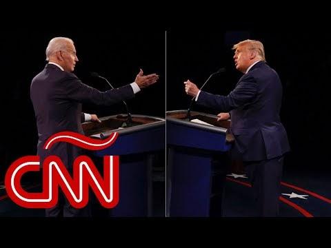 Análisis del último debate presidencial entre Donald Trump y Joe Biden a...