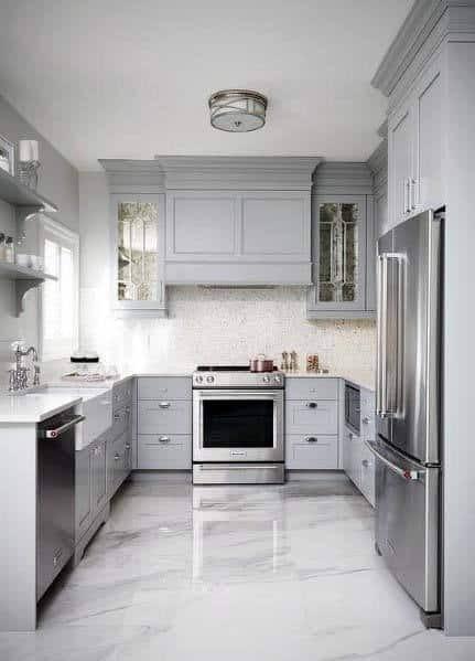 Top 50 Best Kitchen Floor Tile Ideas - Flooring Designs