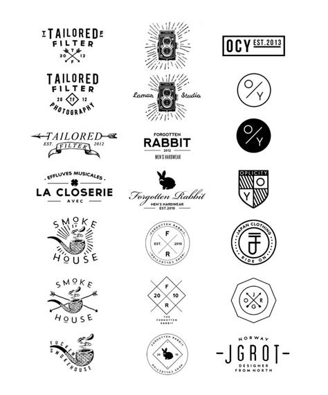 hipster logos images  pinterest typography