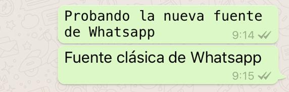 Como cambiar el tipo de letra en Whatsapp