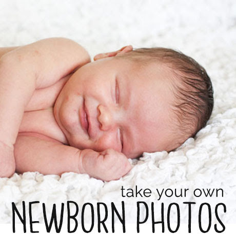 diy take your own newborn photos