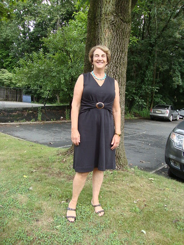 Marsha in the Burda dress