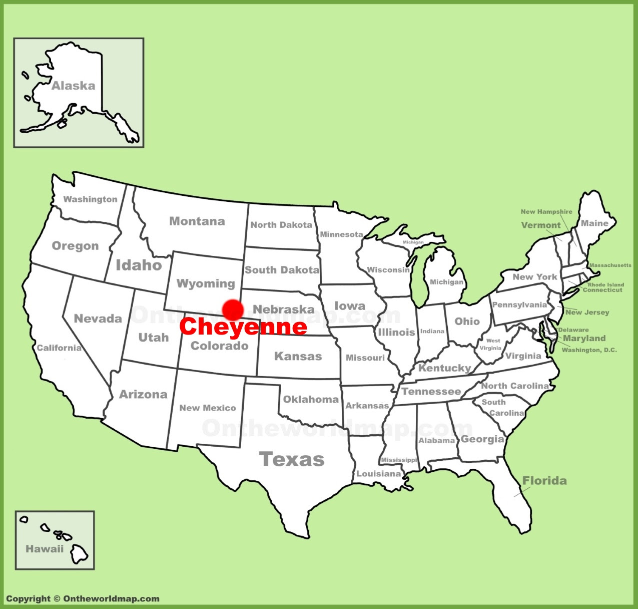 cheyenne location on the us map