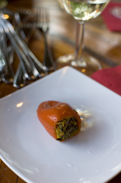 curry-stuffed peppers