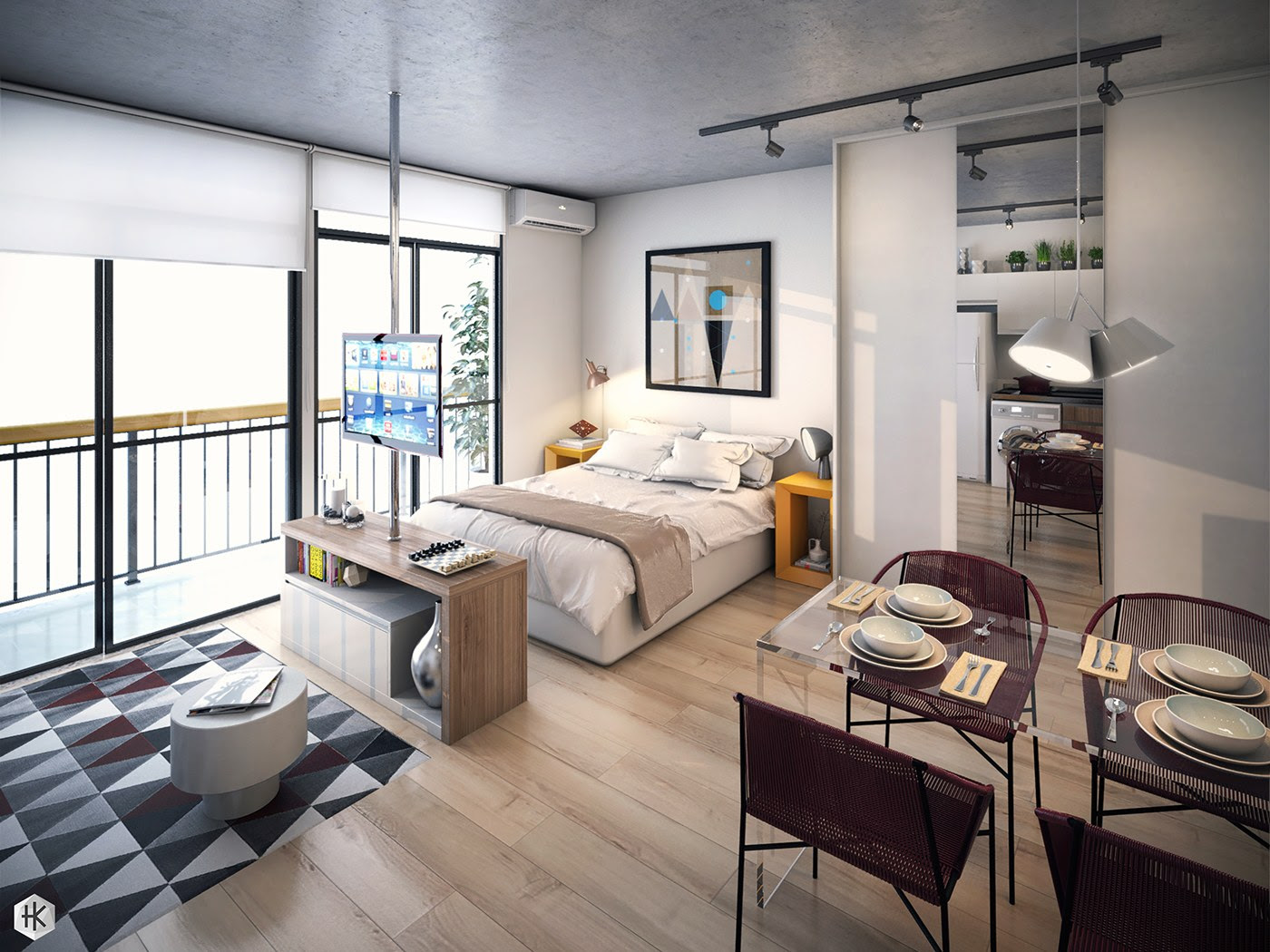 Working With A Studio Apartment Design - MidCityEast