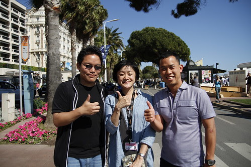 Ming Jin, me and Nakayama the journalist