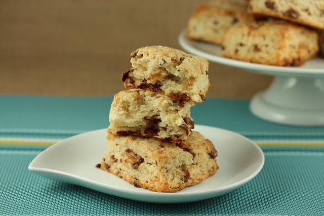 Cream Scones with Milk Chocolate Toffee Bits