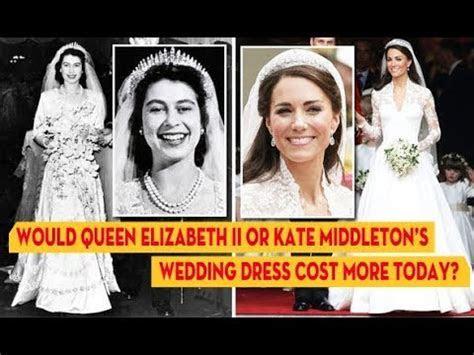 Would Queen Elizabeth II or Kate Middleton?s wedding dress