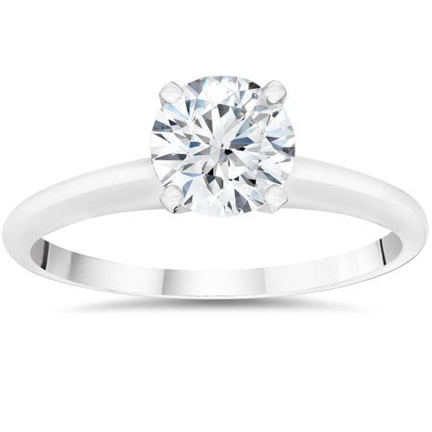 1/2ct Lab Grown Diamond Solitaire Engagement Ring 14k