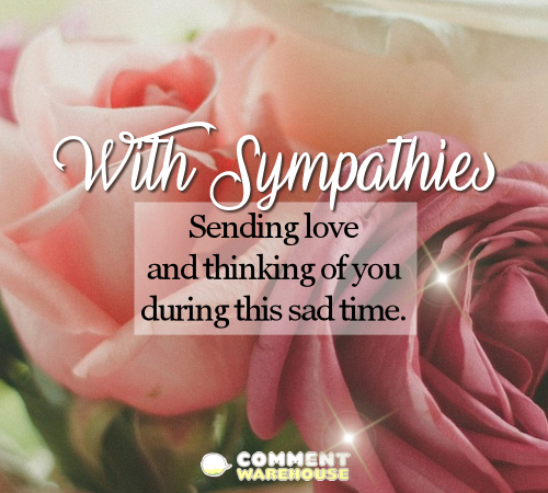 With Sympathies Sending Love And Thinking Of You During This Sad