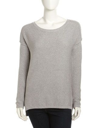 Vince Cotton-Cashmere Long-Sleeve Sweater
