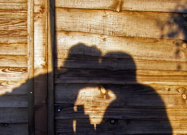 Shadow of love: Sadow of a couple kissing