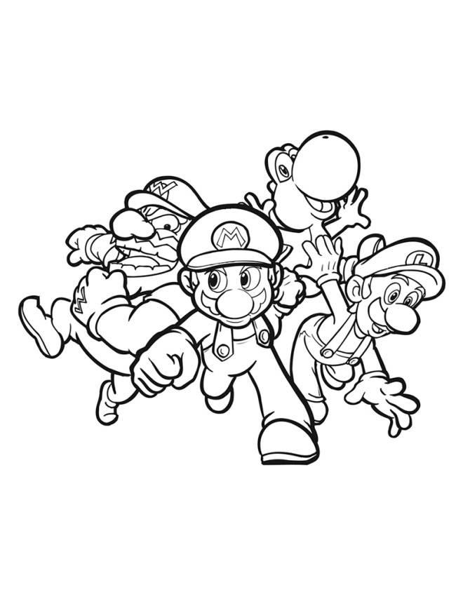 Disegno Di Super Mario Da Colorare Per Bambini