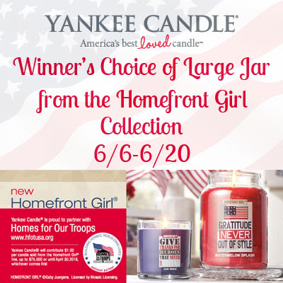 Yankee Candle Homefront Girl Collection Giveaway. Ends 6/20