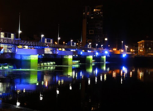 The Lagan Weir at Night